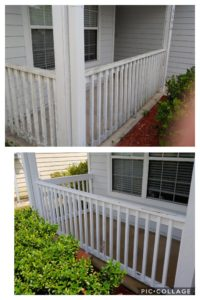Have your porch and patio cleaned today! At Wilson Exterior Professional Cleaning Services we will remove all of the dirt and stains from your porch or patio, swings, railings, tables, and any other surfaces you need to be cleaned. We take care to protect your furniture and plants and do every job to 100% satisfaction.