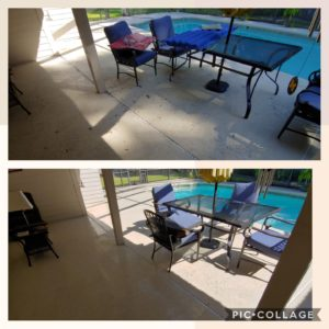 Don't let dirt, mold, mildew, algae, and stains take away from relaxing by the pool! Call Wilson Exterior Cleaning today for a free estimate of our pool deck pressure cleaning services. We can clean all pool deck surfaces and screens and leave your pool deck looking brand new!