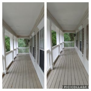 Have your porch and patio cleaned today! At Wilson Exterior Professional Cleaning Services we will remove all of the dirt and stains from your porch or patio, swings, railings, tables, and any other surfaces you need to be cleaned.