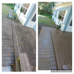Pressure washing any wood surface is a delicate task and should not be done without a trained professional. At Wilson Exterior Cleaning we are experts in cleaning wood decks and fences without any splintering or damage.