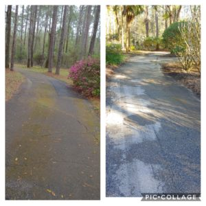 At Wilson Exterior Cleaning we can get even the toughest of stains out of your driveway or concrete!